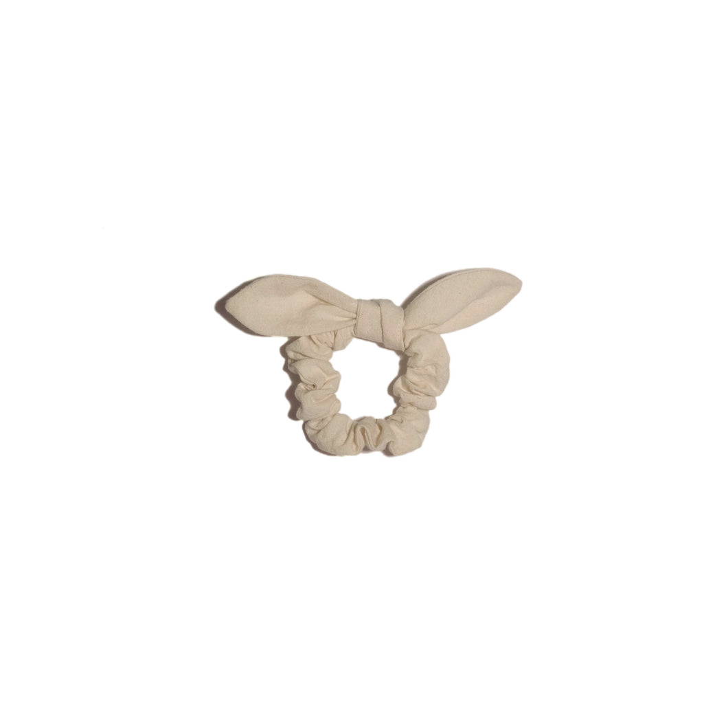 bunny ear scrunchie, natural