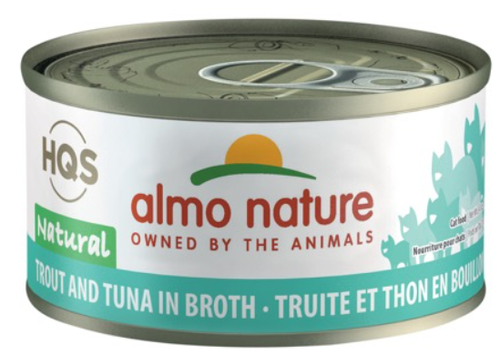 HQS Natural - Trout and Tuna in broth (70g) - Perfetto Peterbald