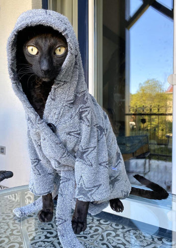 Bathrobe grey stars - Perfetto Peterbald