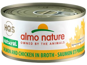 HQS Natural Salmon and Chicken in broth (70g)