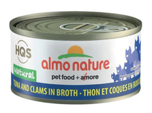 Load image into Gallery viewer, HQS Natural - Tuna and Clam in Broth (70g)