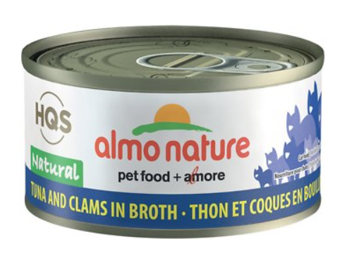 HQS Natural - Tuna and Clam in Broth (70g)