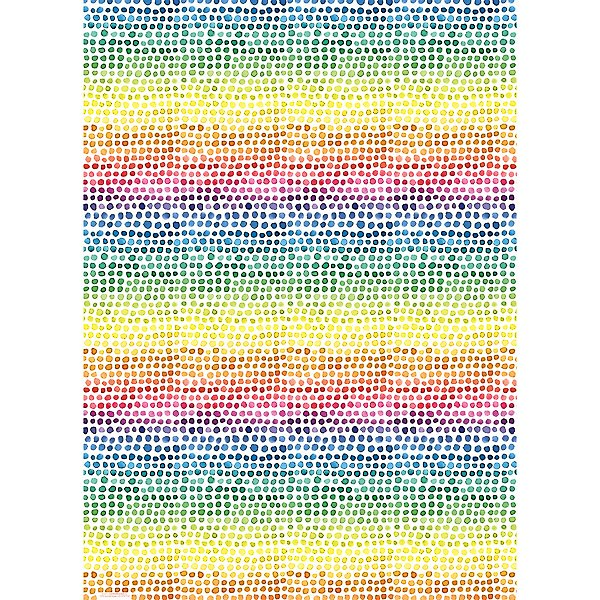 Watercolor Rainbow Dot Gift Wrap
