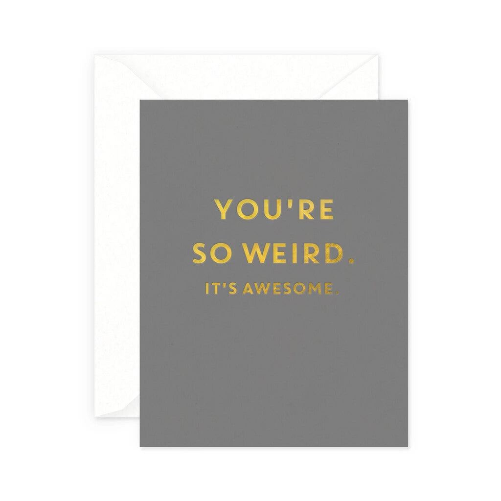 Awesomely Weird Greeting Card