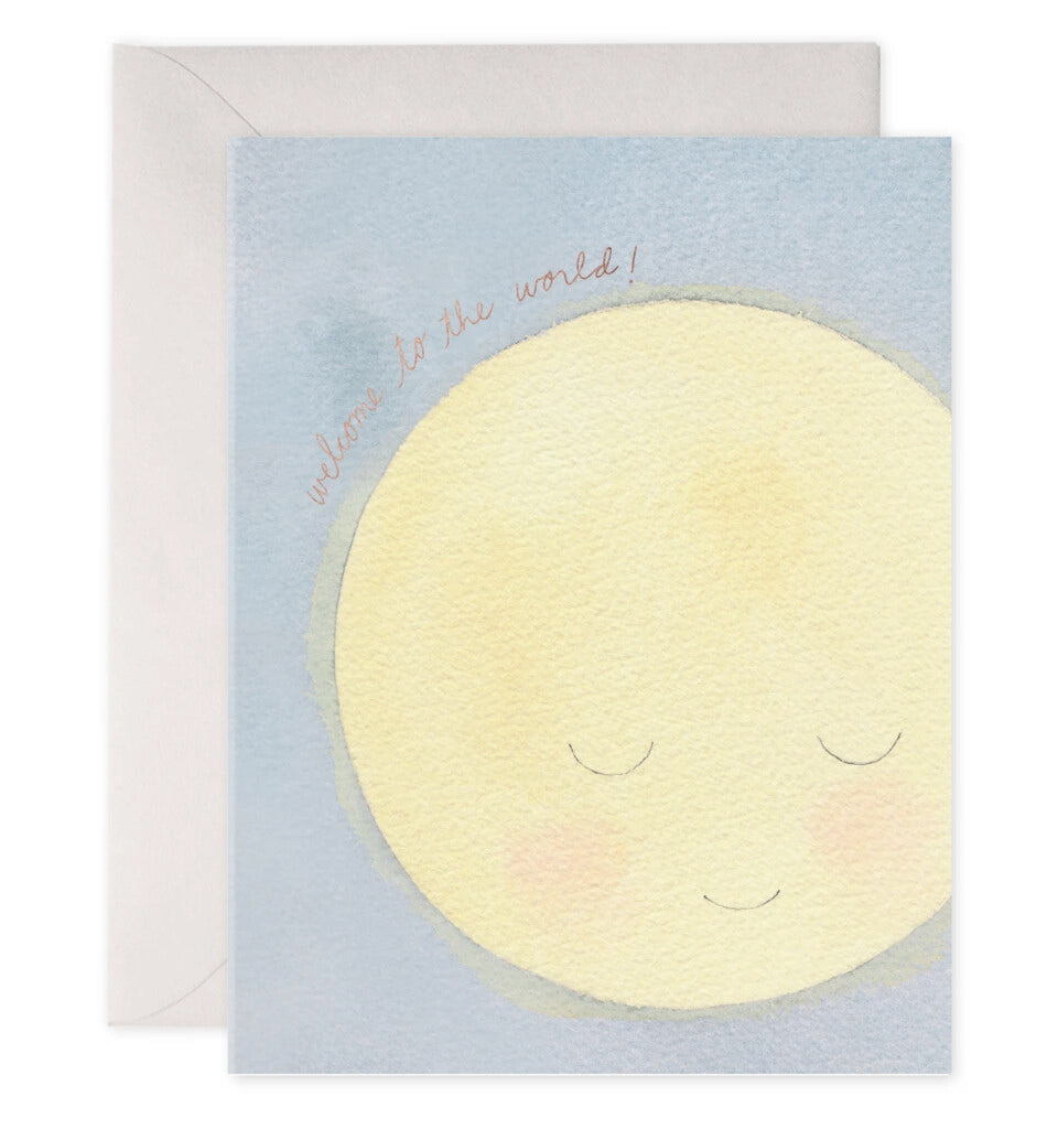 Baby Moon Greeting Card