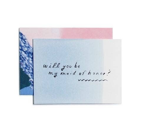 Be My Maid of Honor, Gray Greeting Card