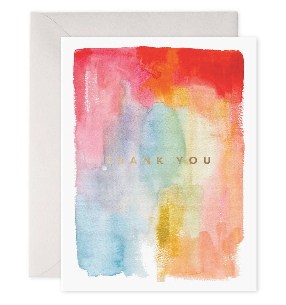 Colorful Thanks Greeting Card