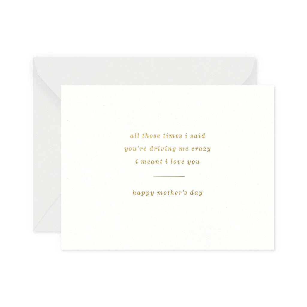 Crazy Mothers Day Greeting Card