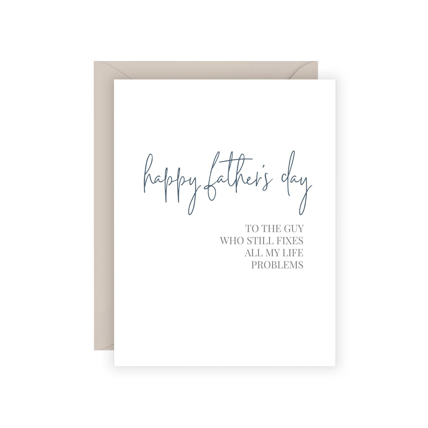 Dad Fix Problems Greeting Card