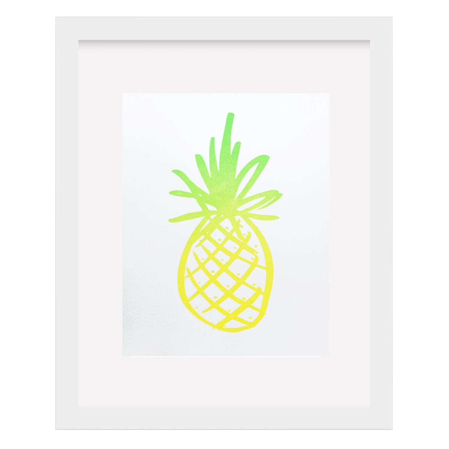 Pineapple Letterpress Art Print