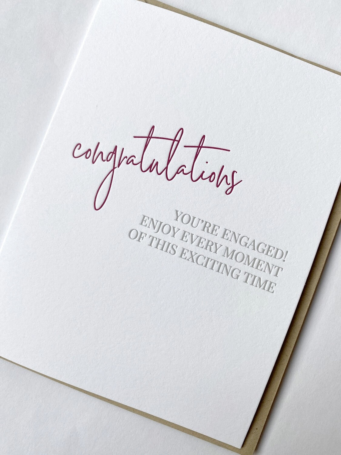Engaged Excitement Card