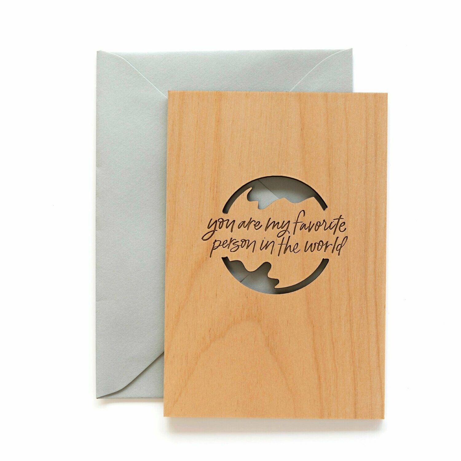 Favorite Person Wood Greeting Card