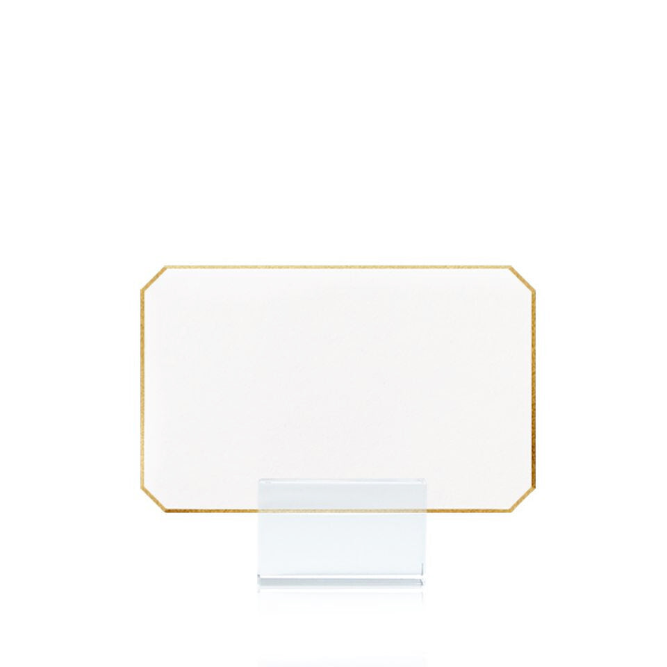 Gold Tipped Corner Place Cards, Set/12