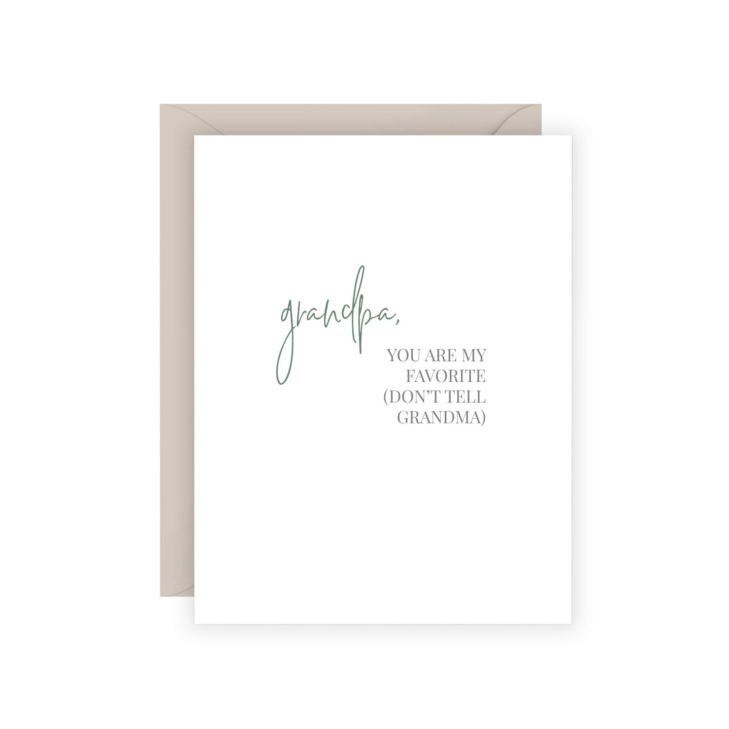 Grandpa Favorite Greeting Card