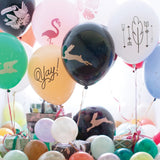Gray Happy Birthday Latex Balloons