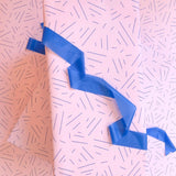 Pink and Cobalt Dash Gift Wrap
