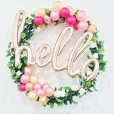 hello Script Foil Balloon, Rose Gold