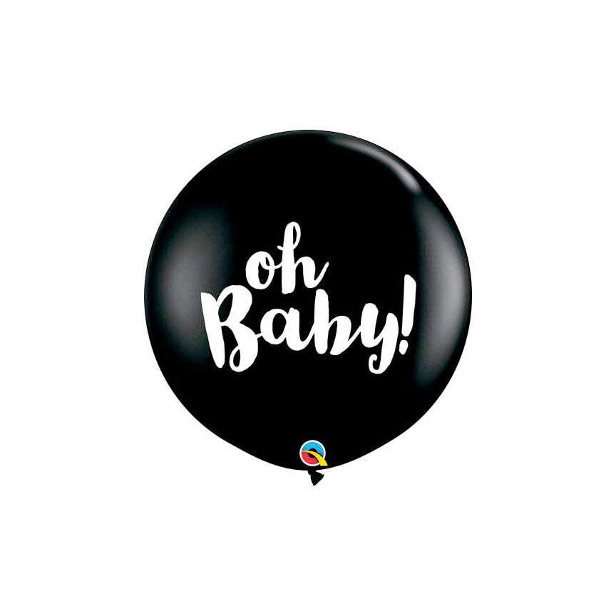 Oh Baby! Black Balloon, 36""