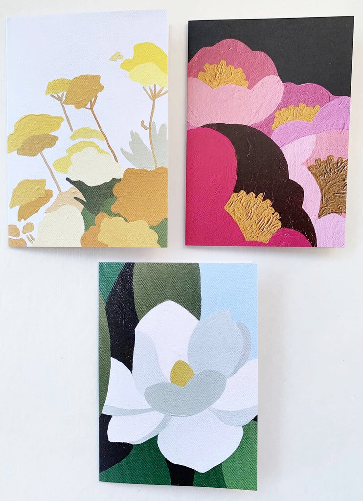 Spring Flowers Greeting Cards Set