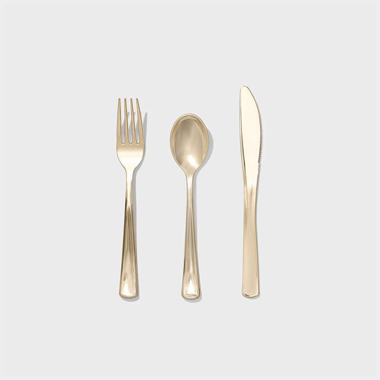 Metallic Gold Cutlery Pack