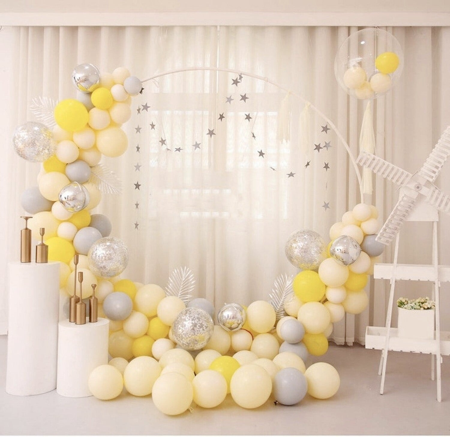 Ivory Silk Balloon, 5""
