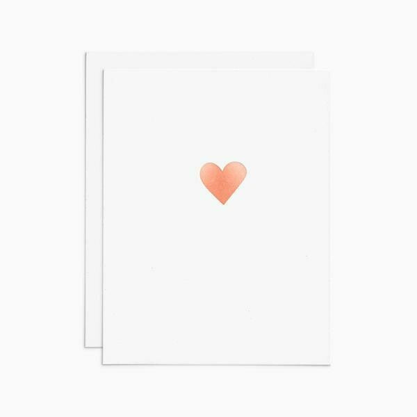 Rose Gold Foil Heart Greeting Card