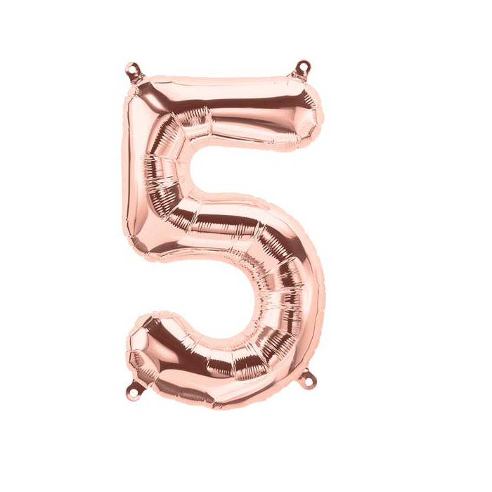 Number 5 Rose Gold Balloon
