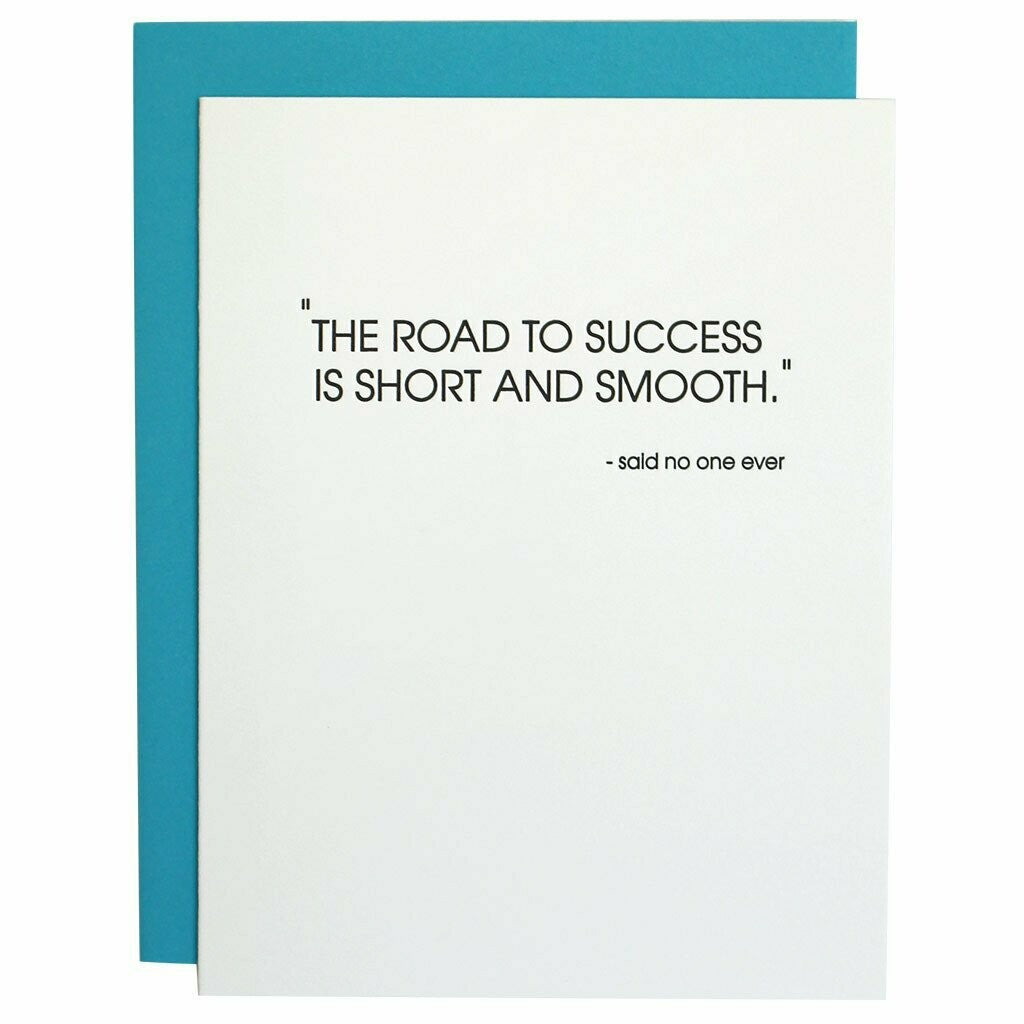 Road To Success Greeting Card