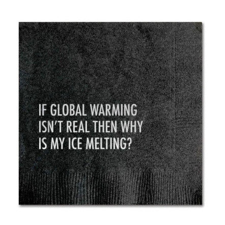 Global Warming Cocktail Napkins