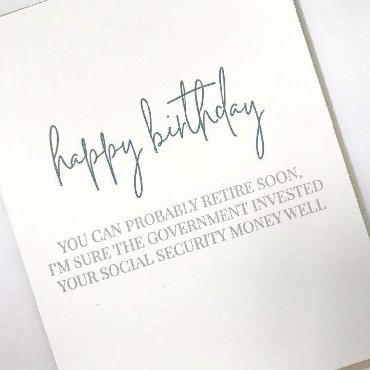 Social Security Bday Greeting Card