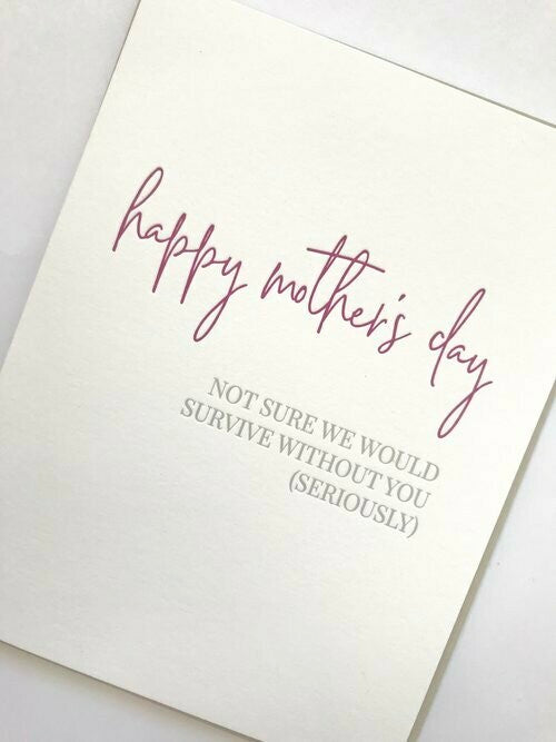 Mom Survival Greeting Card
