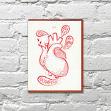 Heart Pump Greeting Card