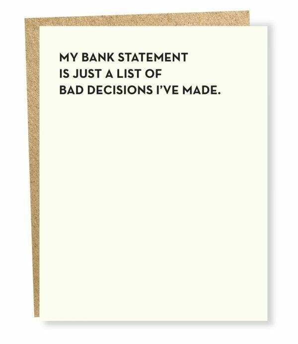 Moment of Truth Bank Statement Card