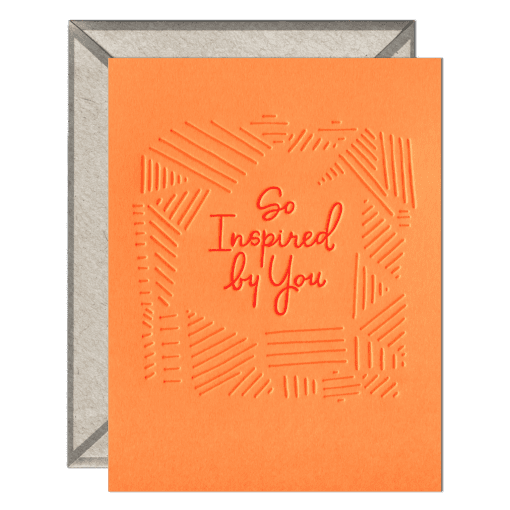 So Inspired By You Greeting Card