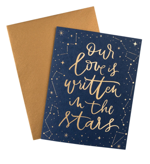 Our Love Is Written In The Stars Card