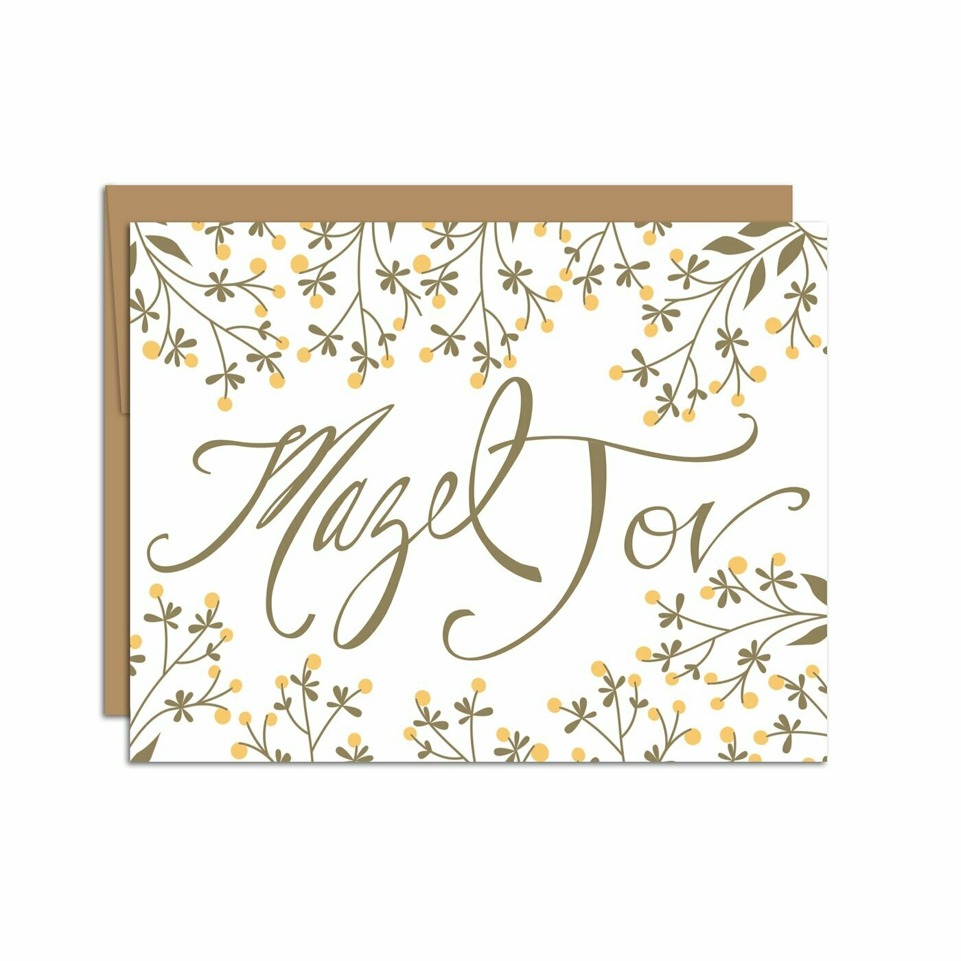 Mazel Tov Yellow Wildflowers Card