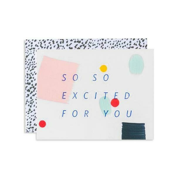 So Excited Confetti Greeting Card