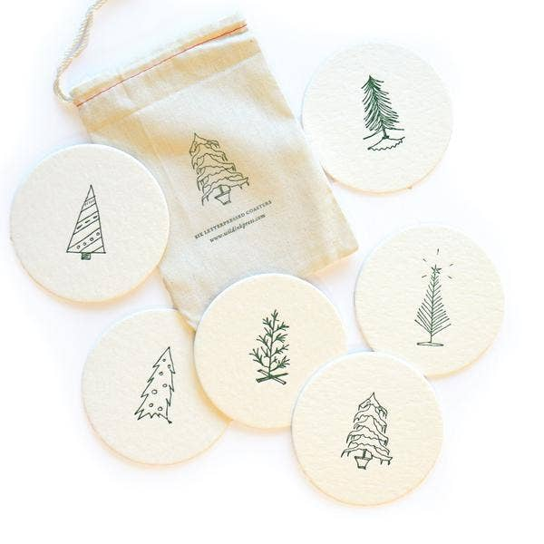 Oh Christmas Tree Coasters | Set of 6