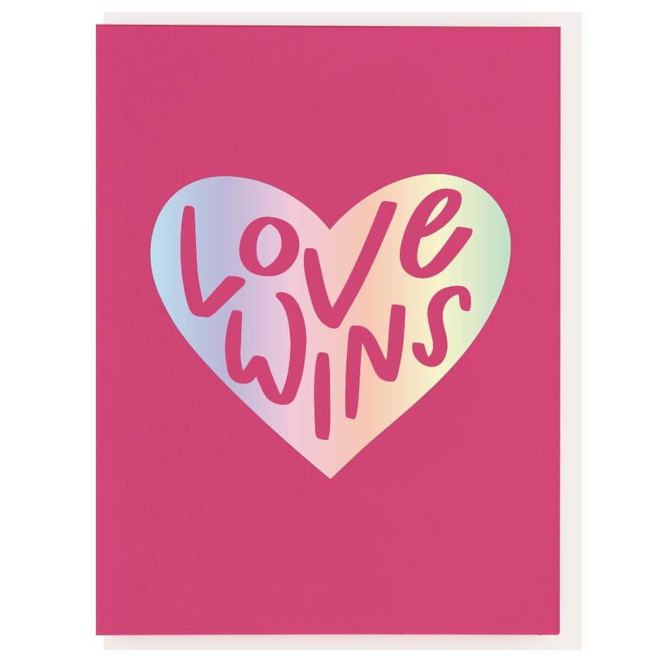 Love Wins Foil Stamped Card