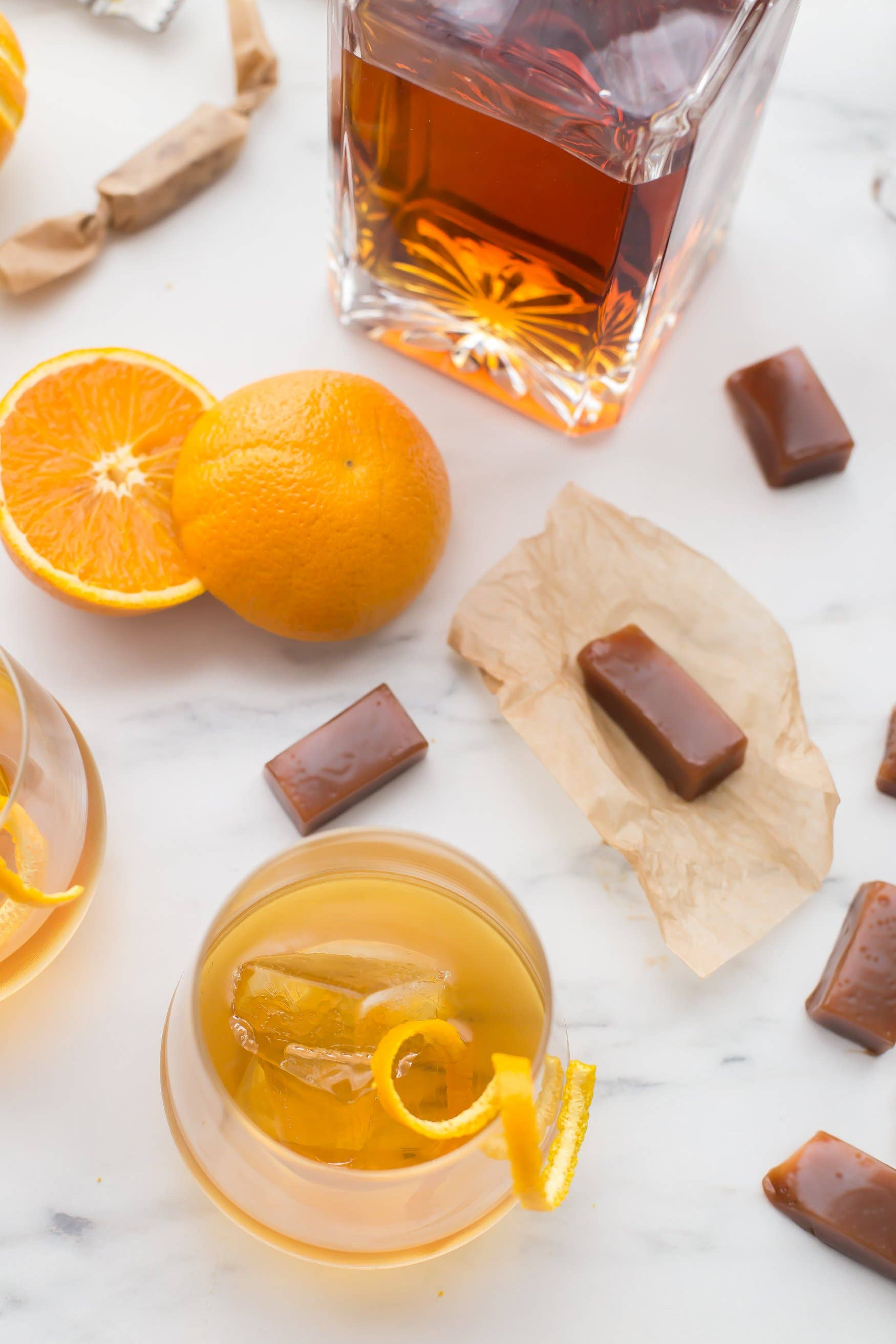 Old Fashioned Cocktail Caramel