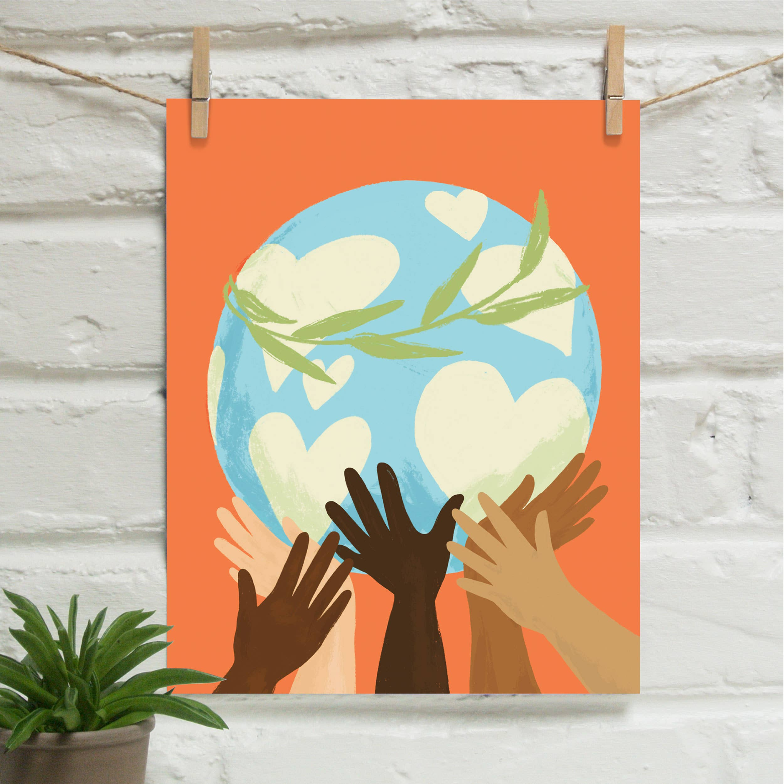 Peace Together Donating 8x10 Art Print