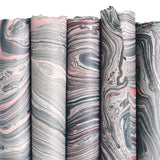 Grey + Pink Marble Gift Wrap Sheet