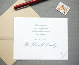 Modern Tree Letterpress Christmas Boxed Cards