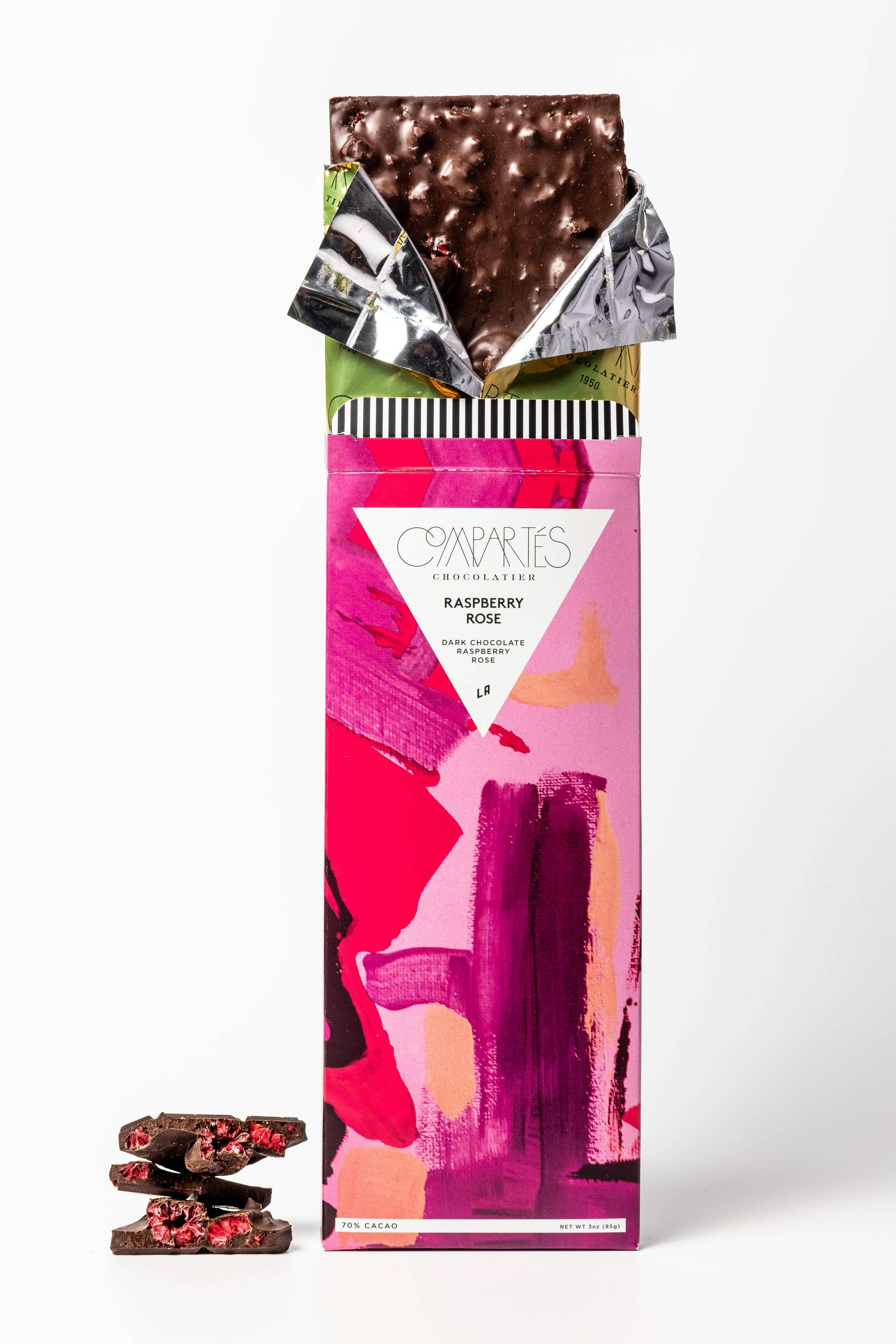 Raspberry Rose Gourmet Dark Chocolate Bar