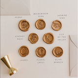 Floral Crest Wax Seal Set