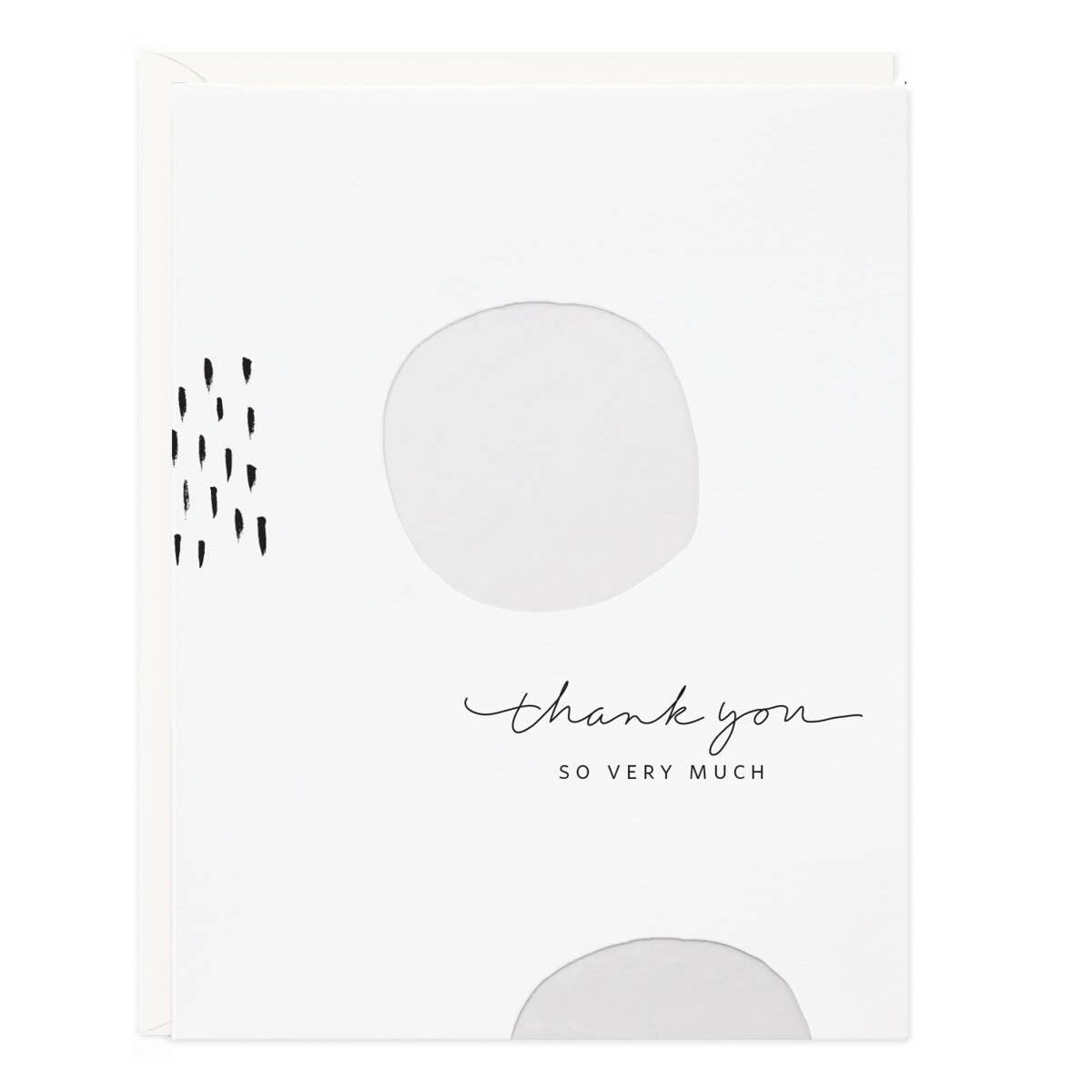 Thank You White Dots Cards Set/6