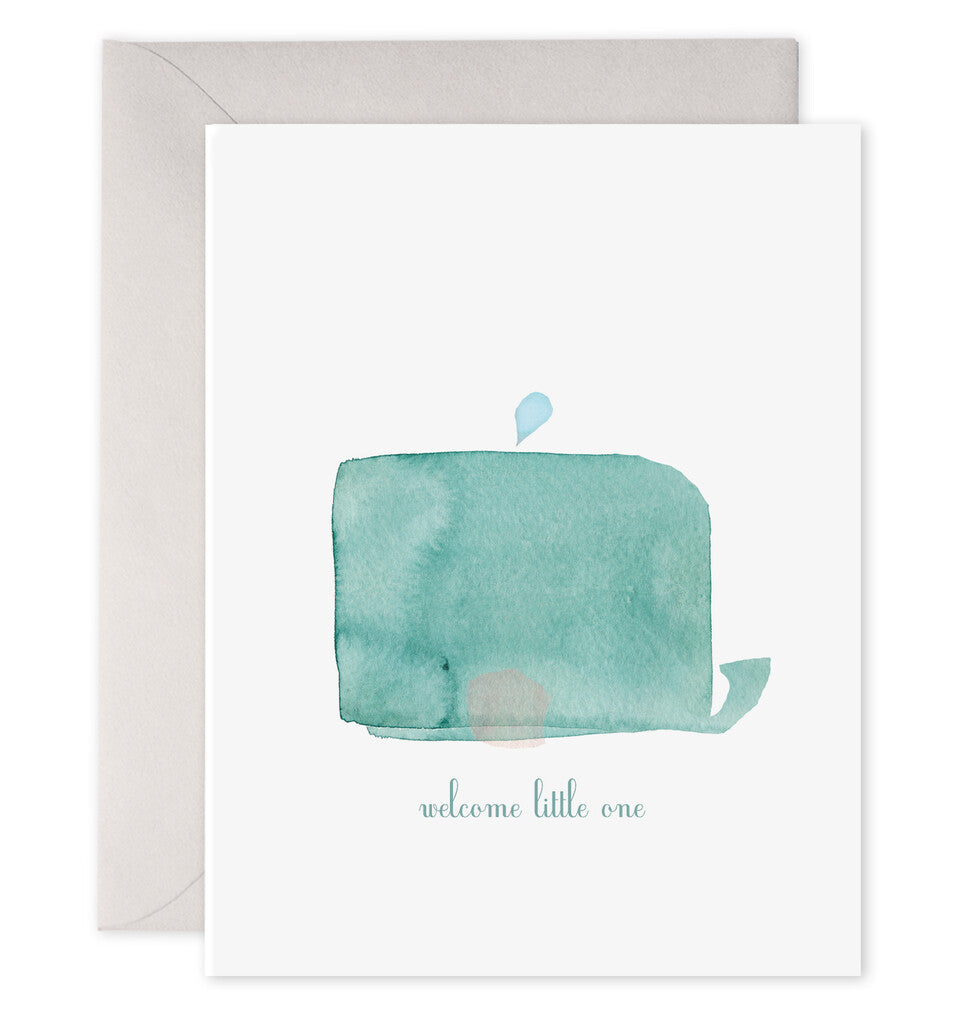 Welcome Little One Whale Greeting Card