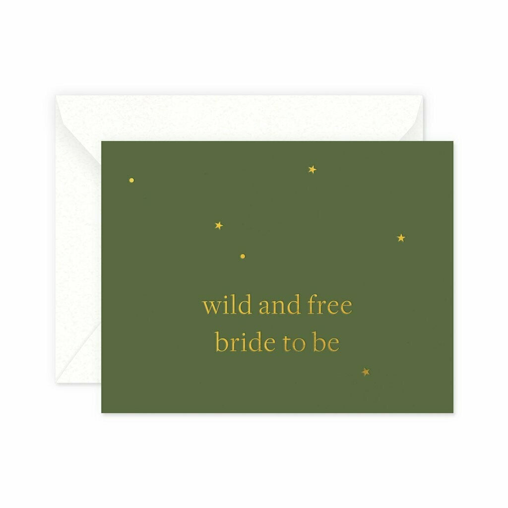 Wild and Free Bride Greeting Card