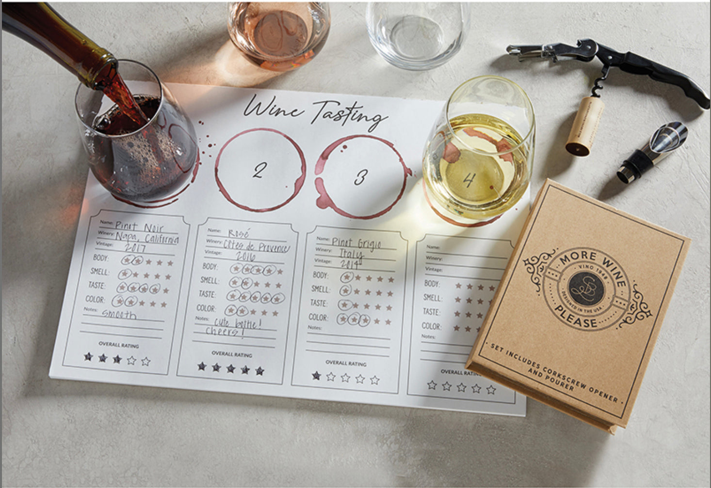 Wine Tasting Placemat 24pk