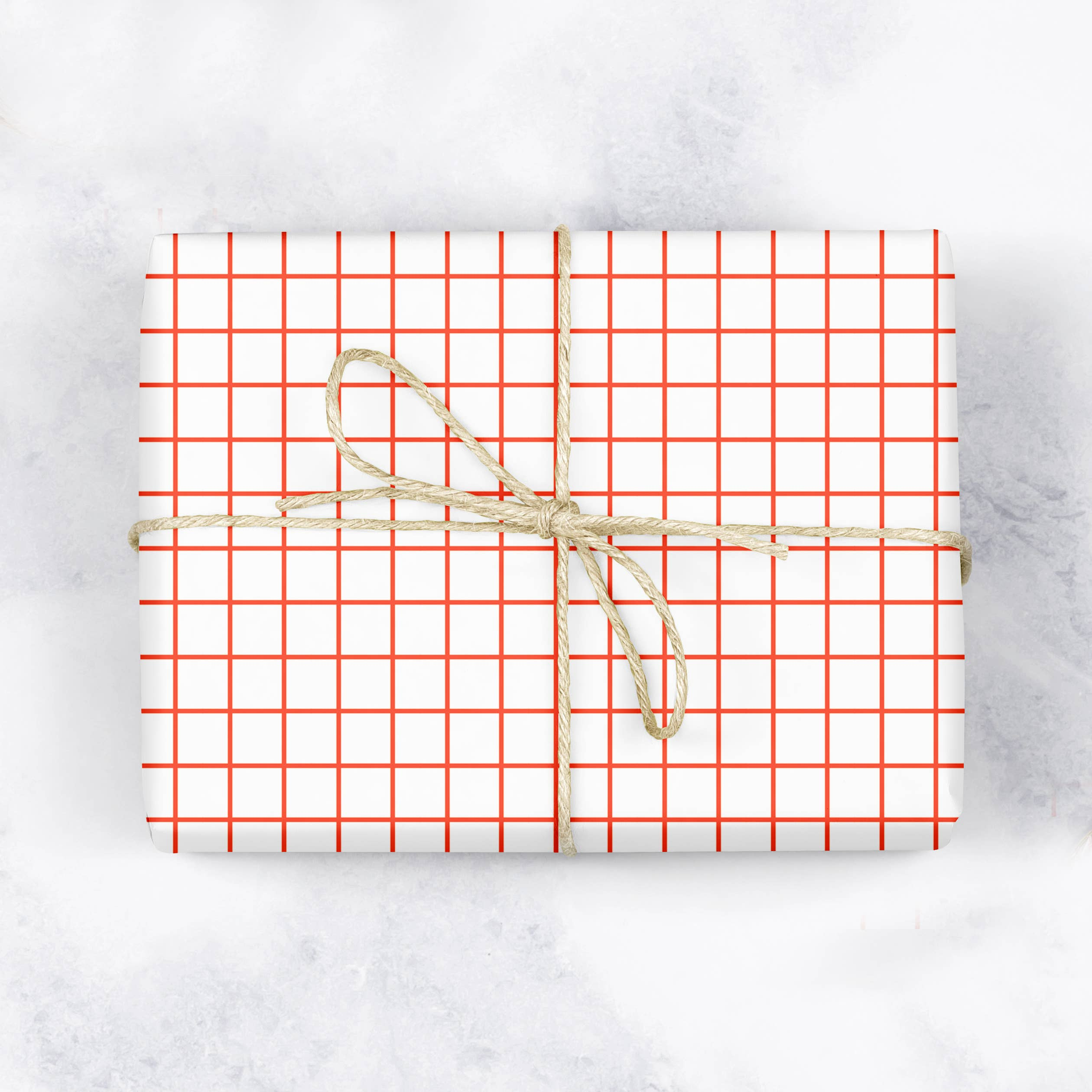 Graph Paper Grid Gift Wrap -  Flat Sheet